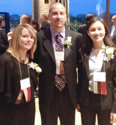 From left: Shana Ritter, Ray Villasana, Kathy Xie at 2014 IMBA Best in the Business Awards