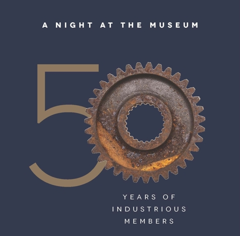 ATG 50th Museum Night Logo: A Night at the Museum - 50 years of industrious members