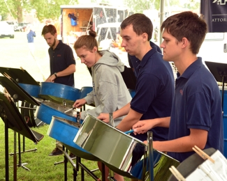 U of I Steel Drum Band at ATG 50th Tailgate