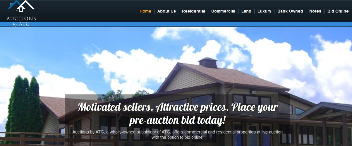 Auctions by ATG website homepage