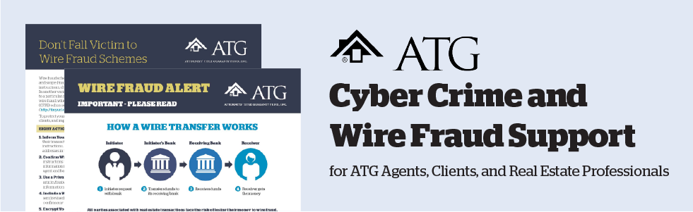 ATG Cyber Crime and Wire Fraud Support banner