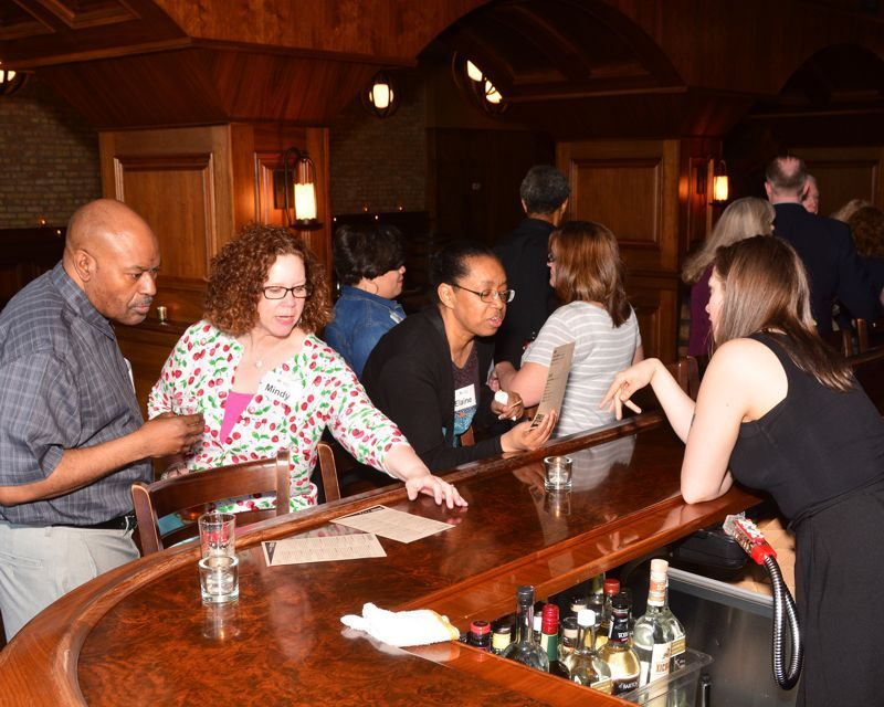 Charlie Howard, Mindy Ward, Eaine Oldham, Lori Ray at 2018 Double Decade Luncheon