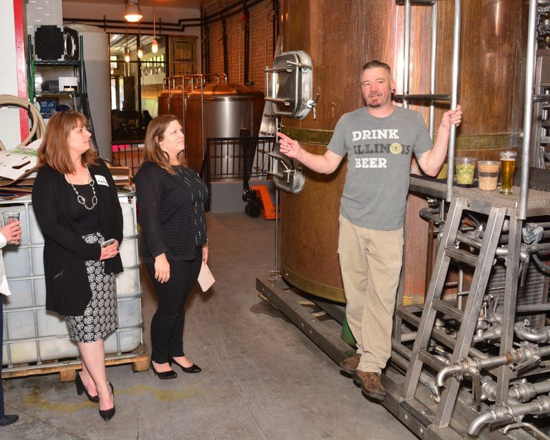 Brewery tour guide at 2018 Double Decade Luncheon