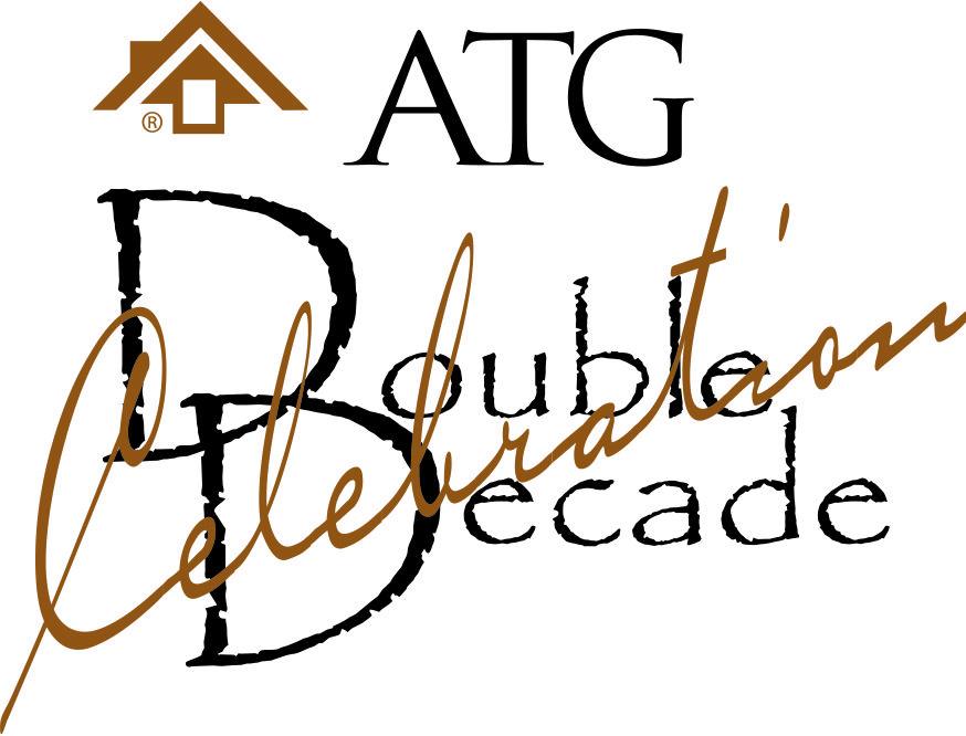 ATG Double Decade logo