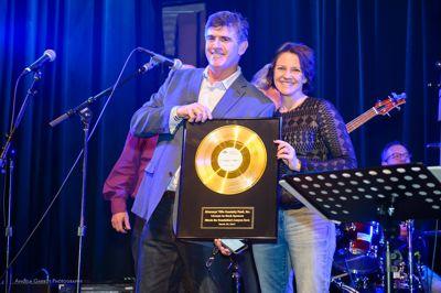 Lawyers Rock Event Hank Shulruff with award