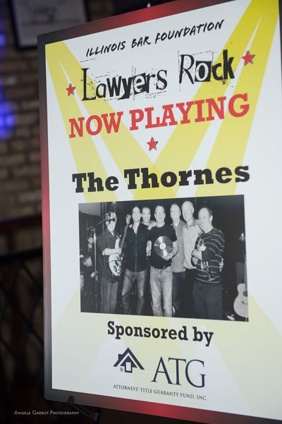 Lawyers Rock Event Thornes Band Sign
