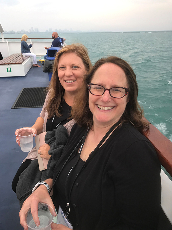 Deb Feinen and Christine Sparks on Agriculture River Tour