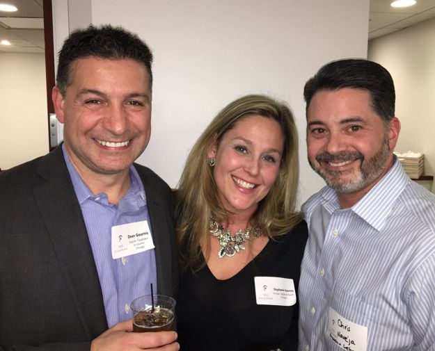 Dean Gournis, Stephanie Gournis, and Chris Naveja