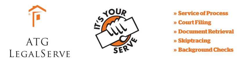 ATG LegalServe It's Your Serve Logos and Services image