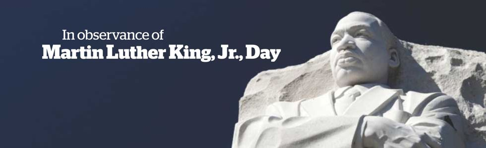 Out of the mountain of despair, a stone of hope. In observance of Martin Luther King, Jr. Day