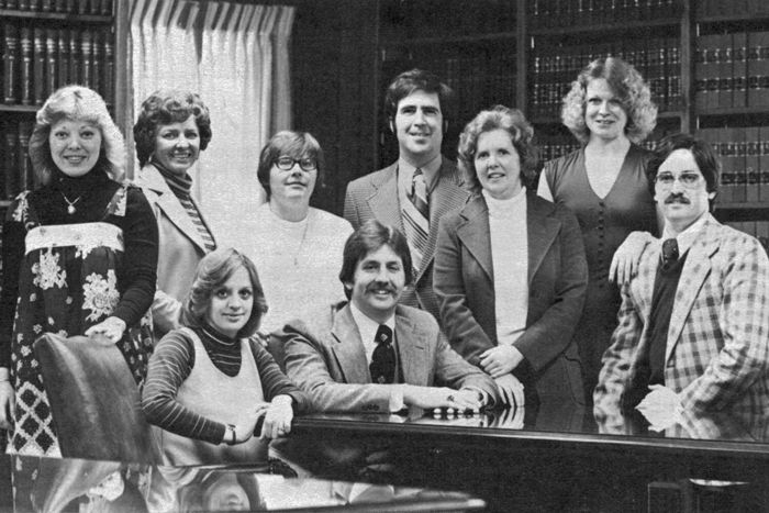 Mike Brandt with ATG 1977 staff