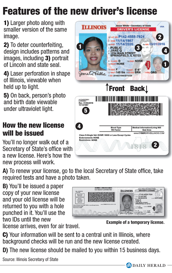 Illinois New License/ID procedure chart