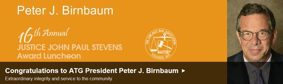Peter J. Birnbaum CBA Award Banner