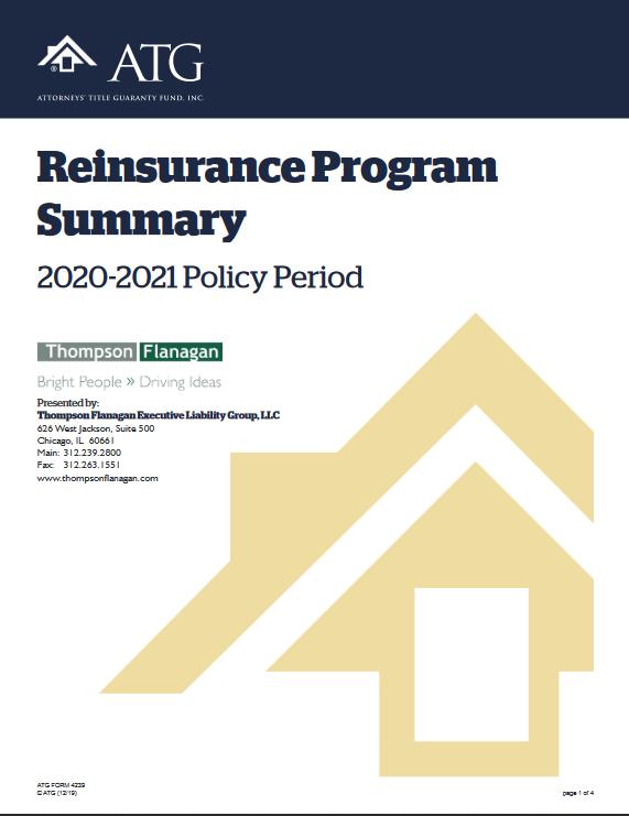 ATG Reinsurance Program Summary Cover