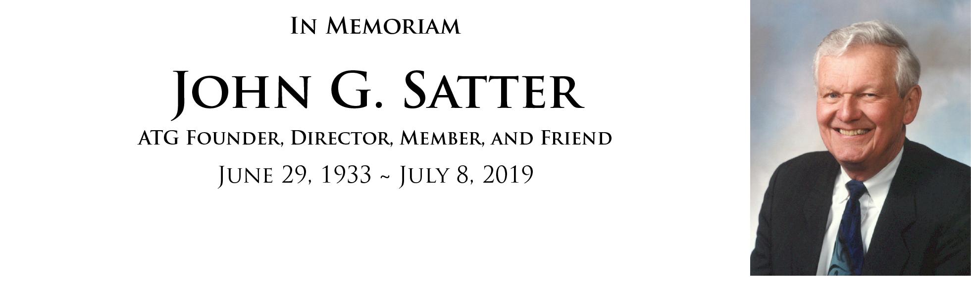 Satter memoriam banner