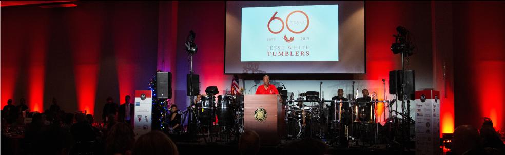 JWTumblers 60th gala banner.