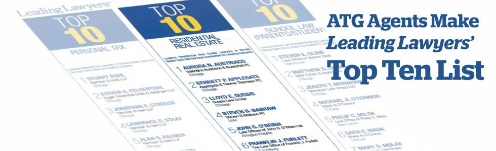 Leading Lawyers Top Ten Lists banner