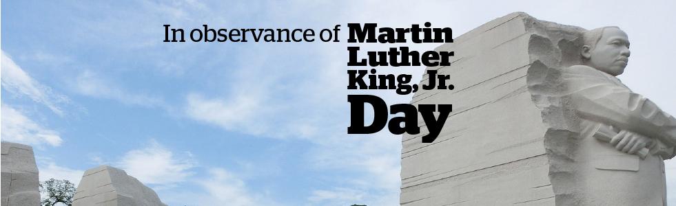 MLK Day banner.