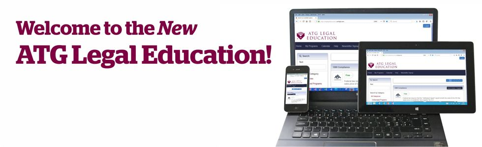 Welcome to the New ATG Legal Education banner
