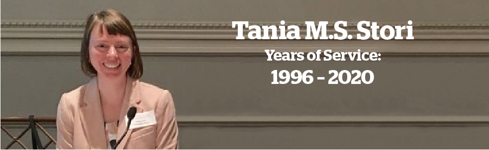 Tania M.S. Stori, Years of Service banner