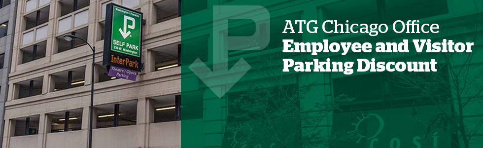 ATG Chicago Office parking banner