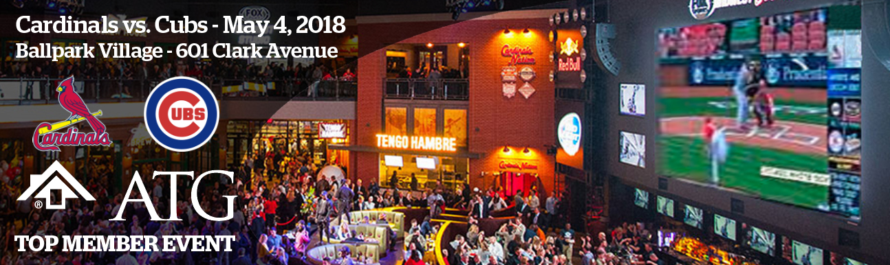 2018 Downstate Top Member Event Banner: May 3, 2018 Cardinals vs. Cubs, Ballpark Village