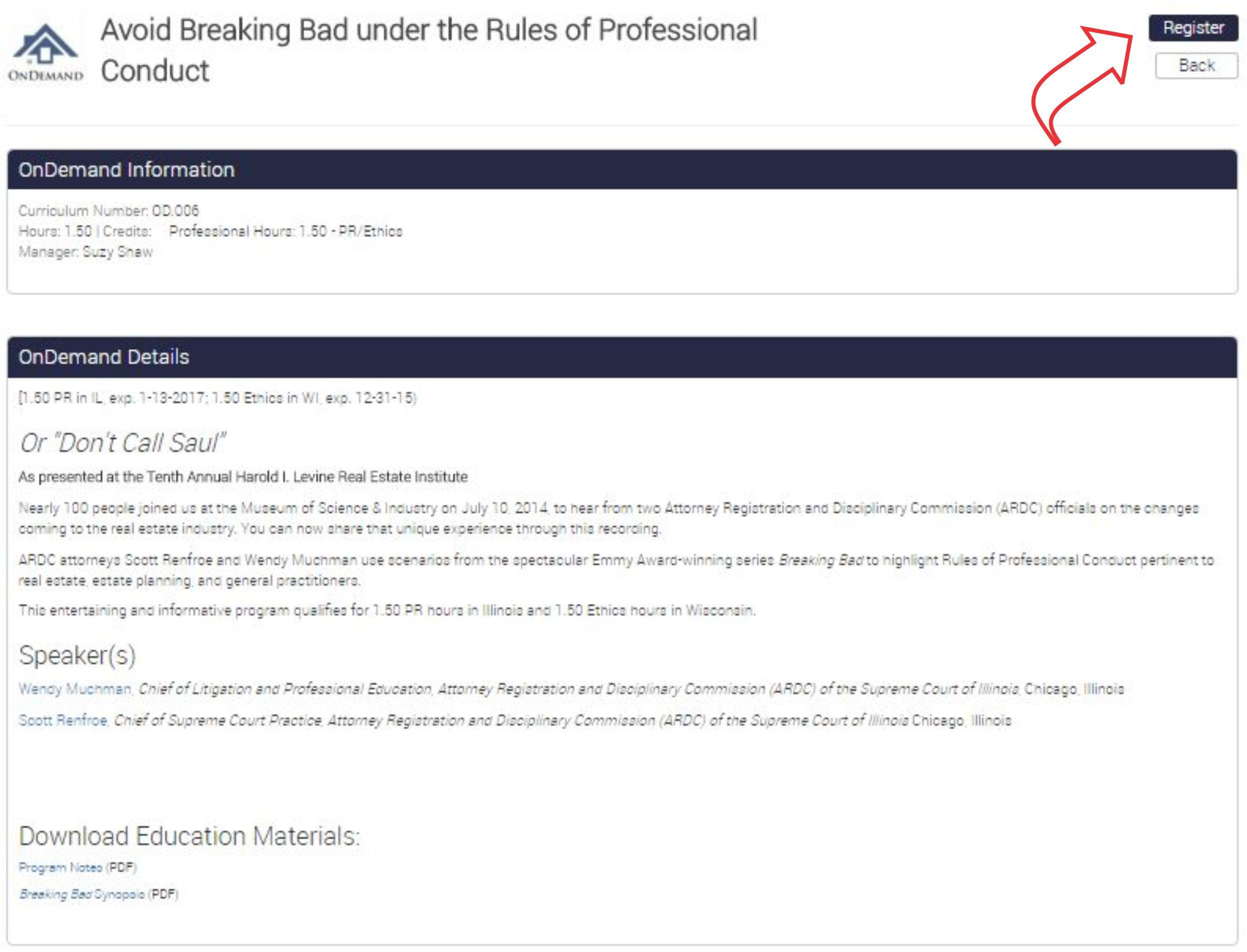 New Legal Ed Live details image